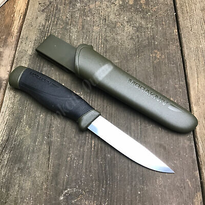 Mora Morakniv Companion Heavy Duty Carbon Steel Green Fixed Blade Camp Knife