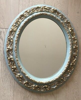 French Provincial Style   Oval  Frame Mirror, Frame Size 65 X55 Cm
