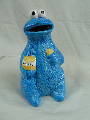 Cookie Monster Ceramic Vintage Figurine Seasame Street Muppets