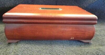 vintage wooden  jewelry  box by Eureka MFG.CO.INC.REED AND BARTON SILVERSMITHS