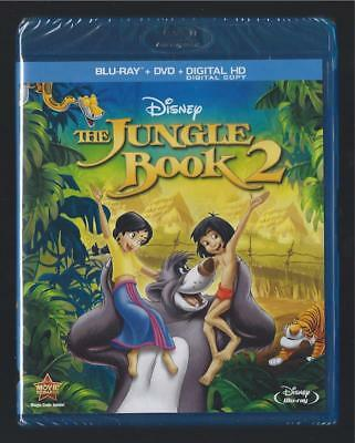 Walt Disney The Jungle Book 2 Blu-Ray + Dvd + Digital Hd *brand New Sealed*