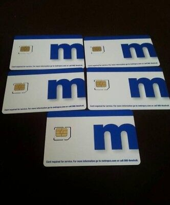 METROPCS TRIPLE SIM CARD Fits ANY PHONE UNIVERSAL!: Nano+Micro+Regular