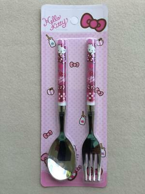 SANRIO HELLO KITTY Kids Stainless Steel Spoon and Fork Set by LiLFANT KOREA