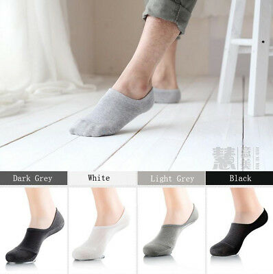 15 Pairs Men Women Invisible Low Cut No Show Socks Cotton Rich No-Slip SOL03/04