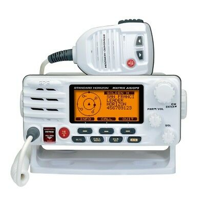 Standard Horizon Matrix Fixed Mount VHF w/AIS & GPS - Class D DSC - 30W - White