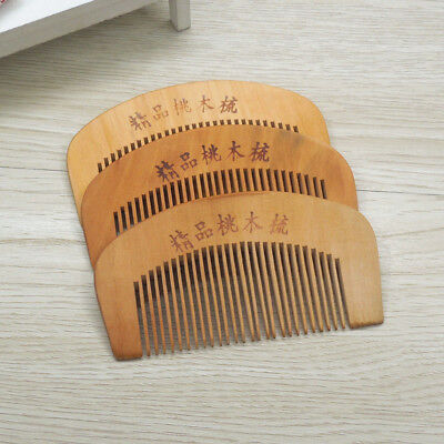 Health Care Mahogany Defense Static Electricity Hair Comb Wooden Comb Smooth