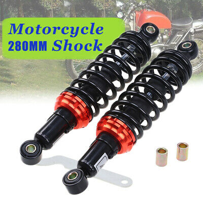 RFY 1pair Universal 11280mm Motorcycle Air Shock Absorber Rear Suspension for Yamaha Motor Scooter ATV black