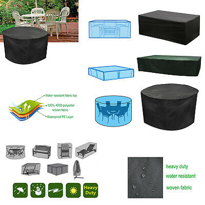 New Garden Patio Furniture Set Cover Covers Table Sofa Bench Cube Outdoors Uk