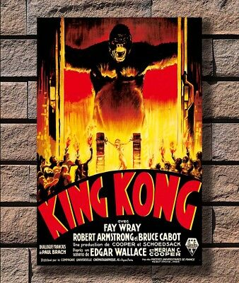 King Kong 1933 Vintage Movie Poster Rolled Canvas Giclee