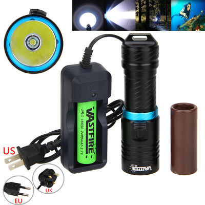 Aluminum 10000LM XM-L T6 LED Adjust Diving Flashlight Torch Lamp Underwater 100m