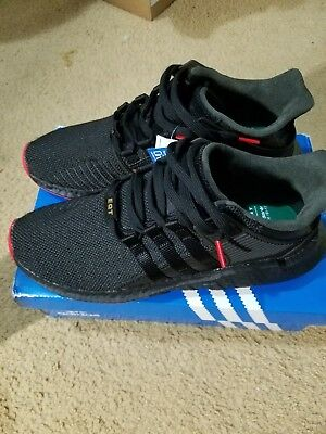 new concept 76f8b aaa67 CQ2394 Adidas Originals EQT Support 93-17 Boost Black Red Carpet Pack Men  New DS