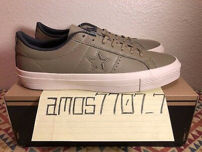 d88aebee5a28 CONS Converse One Star Leather OX Green Sail White 153707C Men s Size SZ ...