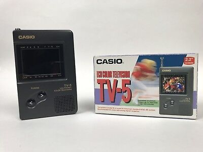 Vintage Casio TV-5 Portable LCD 2.2 inch Color Television EXTREMELY RARE