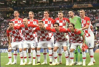 Croatia National Football Team World Cup 2018 Final Soccer Modric etc - Postcard
