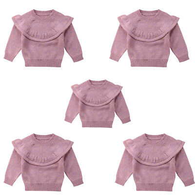 Baby Girls Toddler Kids Knitted Lace Sweater Pullover Cardigan Tops Clothes