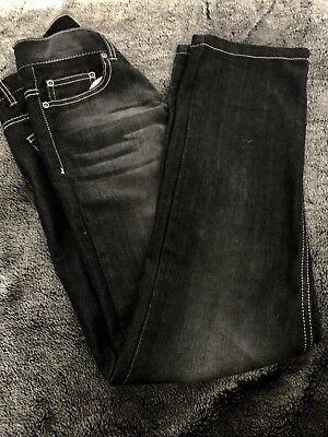Boys size 12 Jeans Faded Look charcoal New Adjustable waist