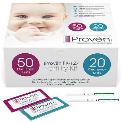 Ovulation Test Strips and Pregnancy Kit - 50 LH 20 Hcg - OPK Predictor...