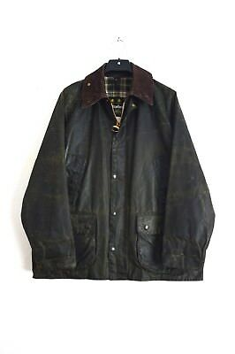Vintage Barbour Bedale Waxed Jacket Green size men's M C40/102cm