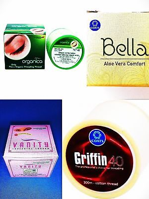Choose Eyebrow Threading Thread Bela,Griffin,Vanity and Organica + Free Shipping