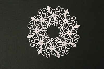 6 Pastel Colours Ornate Flower Doily Doilies Round Circle Die Cuts Card Toppers
