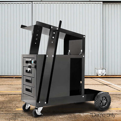 Giantz Welder Cart Welding Trolley MIG TIG ARC Plasma Cutter Bench Drawer #HOT