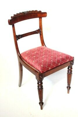 Antique William IV Rosewood and Elm Bar Back Chair - FREE Shipping [PL4531]