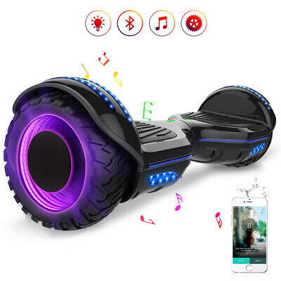 Hoverboard 6,5'' Smart Balance Overboard Pedana Scooter Bluetooth Off Road Nero