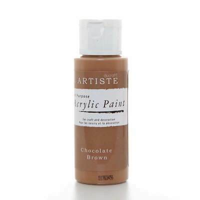 DoCrafts Artiste Chocolate Brown Acrylic Craft Paint - 59ml / 2oz Bottle