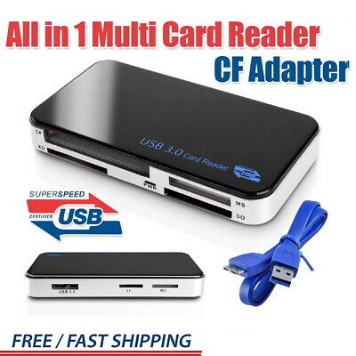 USB 3.0 Multi Memory Card Reader All in 1 Compact Flash for CF  SDHC SDXC MMC