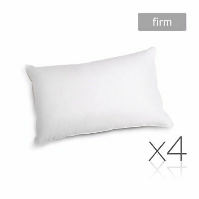 Family 4 Pack Bed Pillows Firm Cotton Cover 48X73CM Brand New #AU