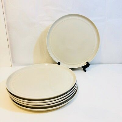 Crate u0026 Barrel Hue Ivory 6 Dinner Plates Aaron Probyn 10 1/2  Set & CRATE u0026 BARREL Aaron Probyn HUE IVORY Three Dinner Plates - EUR 38 ...