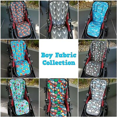 Universal Custom Pram Liners & Shoulder Strap Covers - Boy Fabric Collection