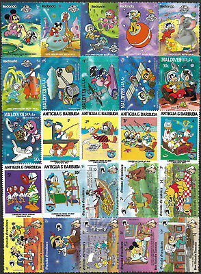 WALT DISNEY CARTOON - 140 Different Stamps **MNH** + FREE SHIPPING !!!