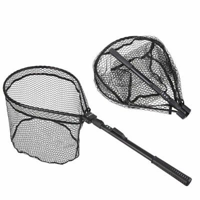 Quick Folding Fishing Brail Landing Mesh Net Trout Catch Release Scoop Portable