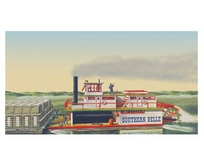 LINDBERG - Southern Bell Paddle Wheel Steamship plastic KIT [201] - GALAXY RC