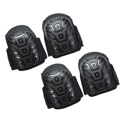 4pcs Durable Gel Filled Knee Leg Pads Silicone Protect with Adjustable Strap