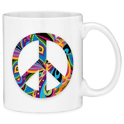 Mugvana Hippie Peace Sign Coffee Mug Cup Fun Novelty Gifts For Women And Men