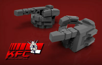 Kfc Kp-09 Posable Hands For Mp-24 Masterpiece Star Saber Grey