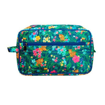 Toiletry Bag Make Up Cosmetic Case Travel Holiday Organizer Bath Tigers Print