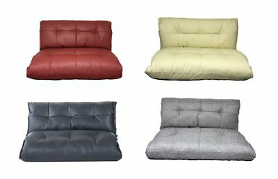 Coloured Lounge Comfy Sofa Bed Floor Sleeper PU Leather Seat Chaises Lounger