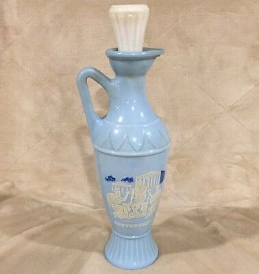 VTG 1961 Blue Grecian Urn Plato Socrates Aristotle Jim Beam Decanter Bottle Jar
