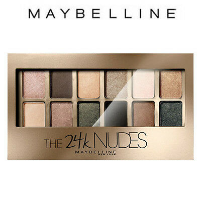 [MAYBELLINE] The 24k NUDES Eye Shadow Palette 12 Colors 13 Looks 1 Palette NEW