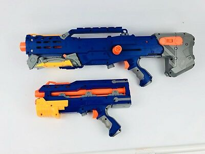 Nerf N Strike Longshot Sniper Rifle Blaster Barrel Soft Dart Gun Blue