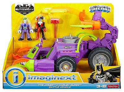 Fisher Price Imaginext DC Super Friends The Joker and Harley Quinn Vehicle Toy