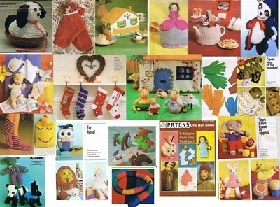 500 Knitting Patterns Ideas on CD Incl Toys, Doll Clothes, Tea Cosy, Easter Gift