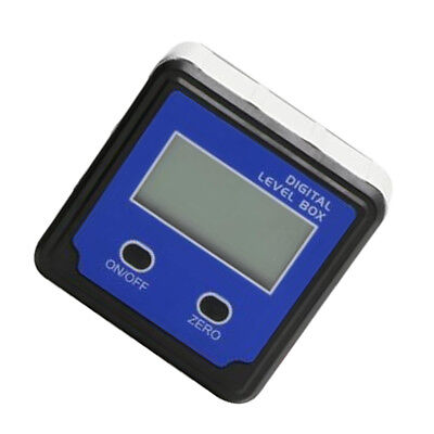 Digital LCD Angle Gauge Bevel Box Level Inclinometer Finder Protractor Blue