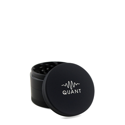 "Quant Matte Black Herb Grinder Crusher for Tobacco 4 Piece 2.5"" Spice 4pc NIB"
