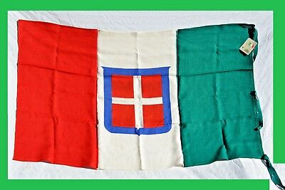 Italian Wwii Flag With Savoia Royal Family Shield Italy Ww2 Banner Rare Bandiera