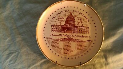 Presidential Dwight D. Eisenhower Inauguration Collector Plate 1953
