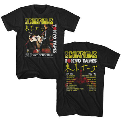 Scorpions T-Shirt Tokyo Tapes Front and Back Black Tee
